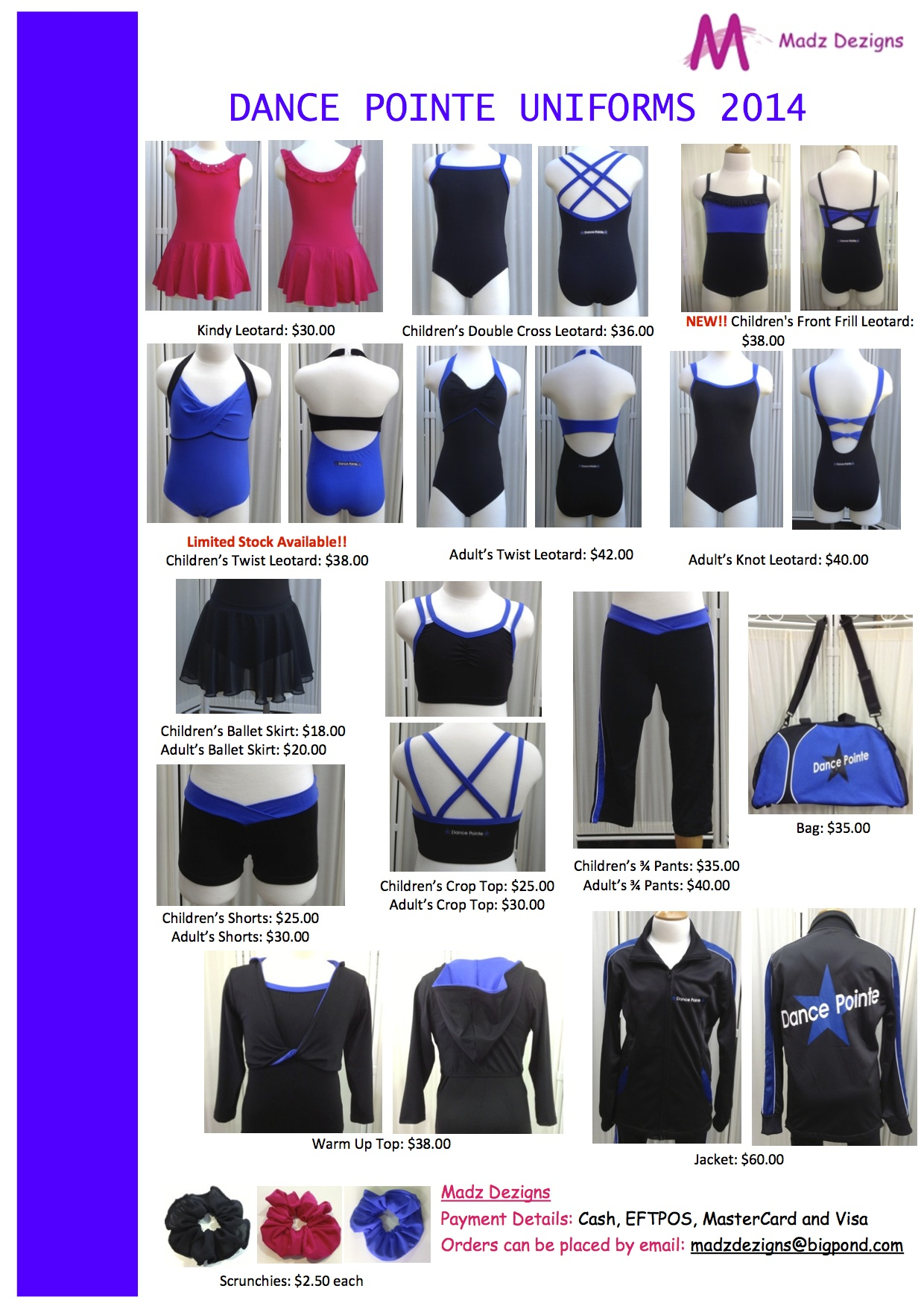 Dance Pointe Flyer (with prices)